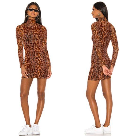 H Ours Dresses Hours Arna Mini Dress In Leopard Revolve Sz S Poshmark Цена 2 054 ₽ руб. poshmark